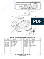 WheelHorse 36 inch rear discharge mower deck parts list