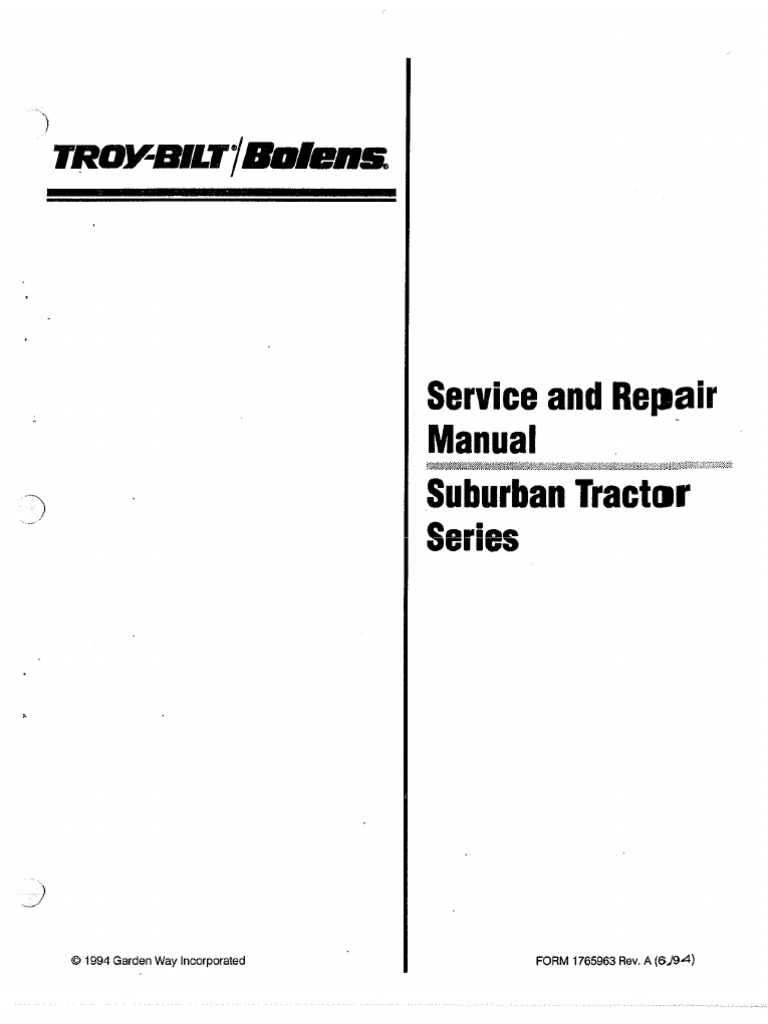1968 Bolens Wiring Diagram - Wiring Diagrams Schema
