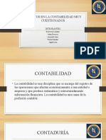 ASPECTOS EN LA CONTABILIDAD MUY CUESTIONADOS DIAPOSITIVAS