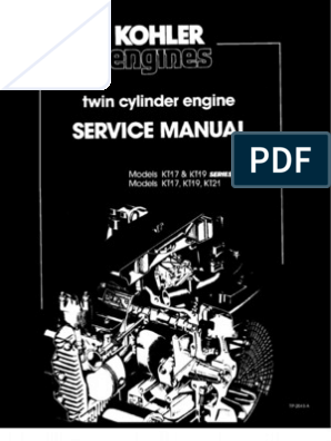 Kohler Kt17 Kt19 series ii Service Manual