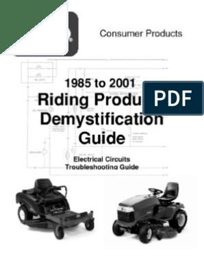 toro wheelhorse demystification electical wiring diagrams Toro Wheel Horse Wiring-Diagram