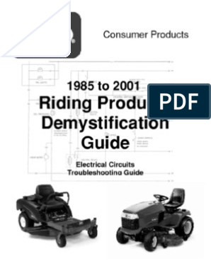 Toro wheelhorse Demystification Electical wiring diagrams for all WheelHorse  tractors | Alternating Current | InductorScribd