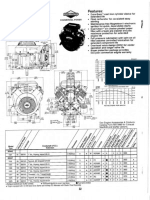 briggs and stratton vanguard torque and horspower curves (18-31hp ... vanguard 18 hp 303447 wiring diagram  scribd