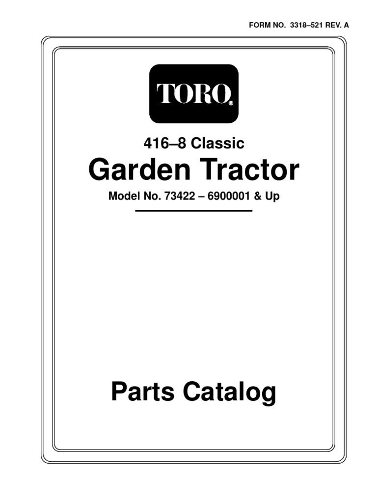 Garden Tractor: Parts Catalog