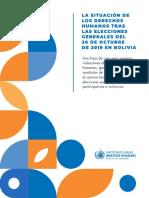 OACNUDH Informe Bolivia SP