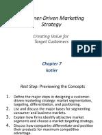 Customer-Driven Marketing Strategy PMS