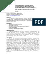 Problemas Centrais de Sociologia da Arte - Curso de Museologia - DAM 2012.1