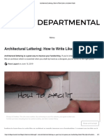 Architectural Lettering  How to Write Like an Architect Guide