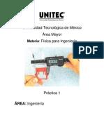 Práctica 1 Conceptos de metrológia