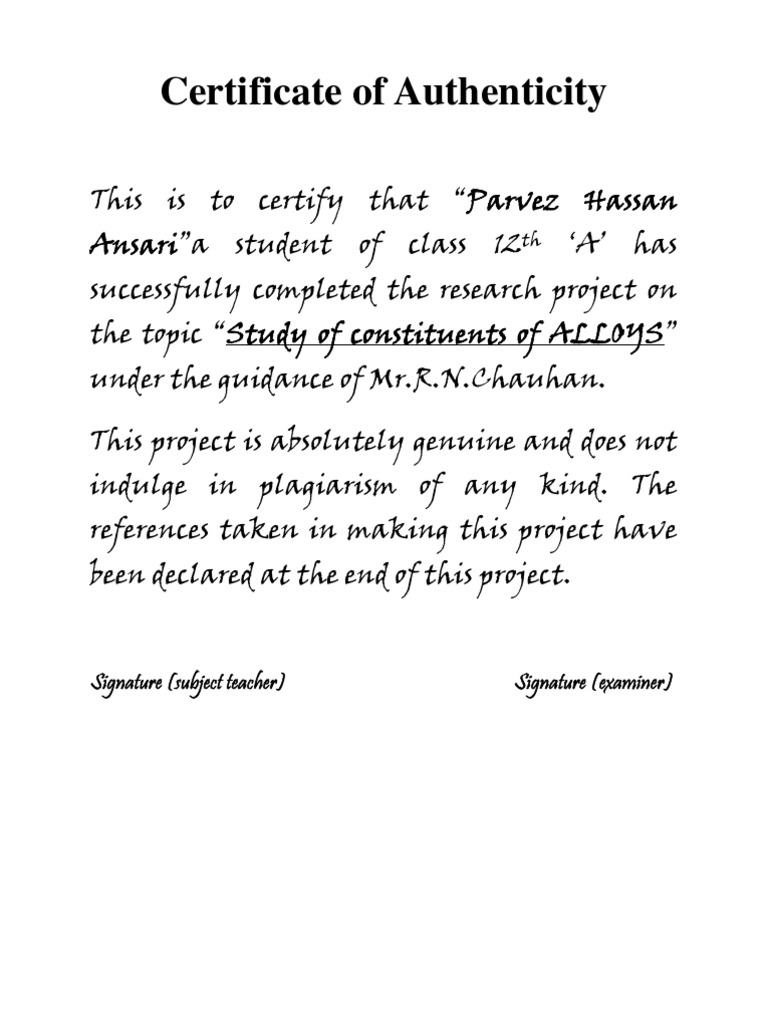 Certificate format for class project gallery certificate design certificate format for bst project gallery certificate design certificate format for project of class 12th images yelopaper Images