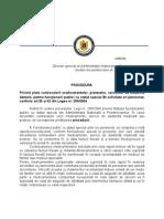 Procedura ANP privind decontarea medicamentelor personalului