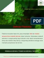 Pengantar Kuliah Fitokimia..ppt