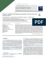 Capacidades dinámicas y participación de los empleados, el papel de la confianza y el control informal