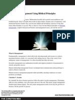 Management Using Biblical Principles
