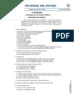 Contrato para sables de oficiales y suboficiales AGM