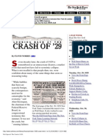 New York Times - Looking Back At The Crash Of 1929