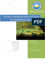 Secure Communication of Voice