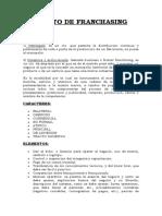 TEORIA del CONTRATO DE FRANCHISING !