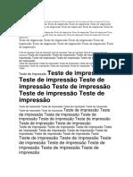 TESTE IMPRESSAO SOS
