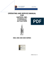 Operating and Service Manual for Hyd. Act. Series 4000,5000,6500