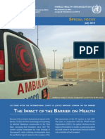 UN Impact of Barrier on Health in Palestine