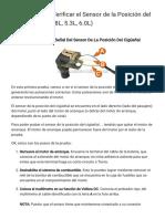 Parte 2 -Cómo Verificar el Sensor de la Posición del Cigüeñal (GM 4.8L, 5.3L, 6.0L)