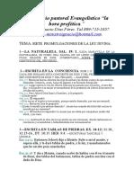 SIETE PROMULGACIONES DE LA LEY DIVINA.