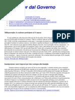 Newsletter Dal Governo 14 Gennaio