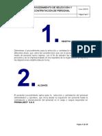 PNT-SST-PDT-015 PROCEDIMIENTO DE SELECCIÓN Y CONTRATACION DEL PERSONAL
