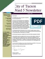 Ward 5 August 2020 Newsletter