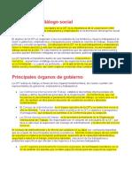 FUNCION DE LA OIT Tripartismo y diálogo social