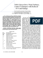 Fault-Tolerant PMSG Direct-Drive Wind Turbines, using Vector Control Techniques with Reduced DC-Link Ratings