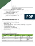 Ficha de especificación técnica