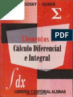 Elementos de Cálculo Diferencial e Integral - Sadosky, Guber - 1ed