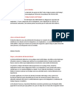 código sustantivo del trabajo en Colombia