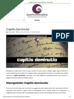 Capitis Deminutio _ Quarta Attenzione _ nella scrittura