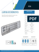 Lámpara de emergencia 60 LED EL2