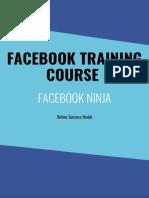 Facebook Training Course Book