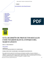 GUÍA DE DISEÑO DE PROYECTOS SOCIALES COMUNITARIOS BAJO EN EL ENFOQUE MARCO LOGICO