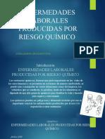 ENFERMEDADES LABORALES PRODUCIDAS POR RIESGO QUÍMICO