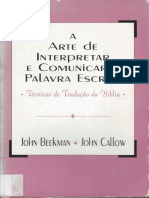 372 A arte de interpretar e comunicar a palavra escrita - John Beekmam e John Callow.pdf