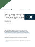6. Pertinencia de La Aplicación Del Estatuto Aduanero