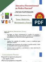 UNIDAD5 MEDICION, MOVIMIENTO Y FUERZA