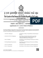 Gazette- New Secretaries to State Ministries