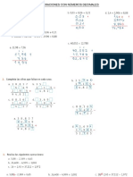 24 Ago. 2020 - Operaciones de Adiciòn y Sustracciòn de Números Decimales