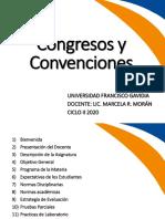 Clase inaugural Congresos y Convenciones año 2020