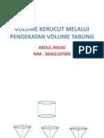 Abdul Majid (Volume Kerucut)