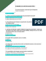 CUESTIONARIO DE AUTOEVALUACIÓN 3