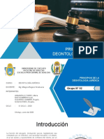 PRINCIPIOS DE LA DEONTOLOGIA