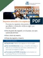 doctorado educativo